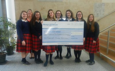 Cheque for €2,270 to Make-a-Wish Foundation