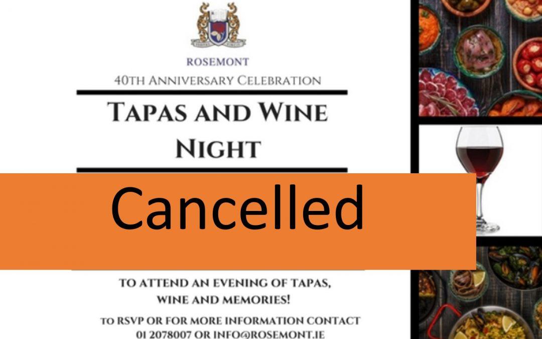 Cancellation Tapas Evening