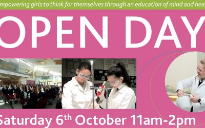 Open Day, Saturday October 6th 11am-2pm