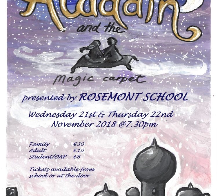 School play – Aladdin and the magic carpet