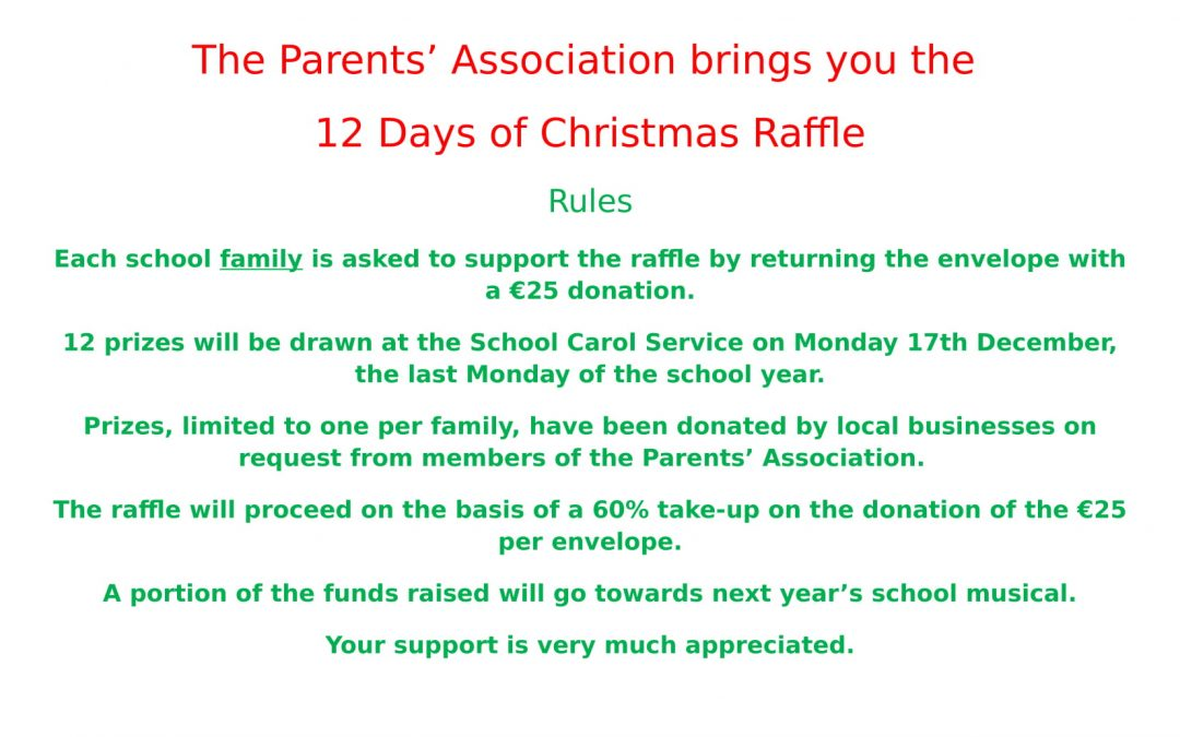 Parents'Association Raffle