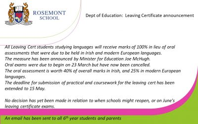 Dept. of Education announcement