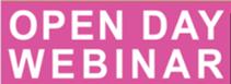 Open Day Webinar